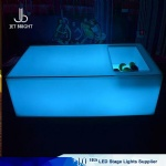 Led bar table with ice storage